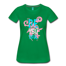 Load image into Gallery viewer, BE YOU TIFUL Women's Cut T-Shirt Transgender Pride Colors - kelly green