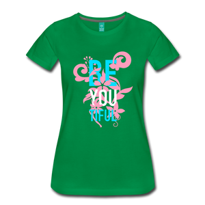 BE YOU TIFUL Women's Cut T-Shirt Transgender Pride Colors - kelly green