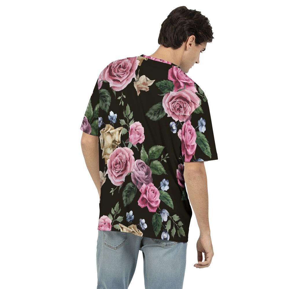 Rose Floral Pattern Men's Tee - BravoPapa Clothing