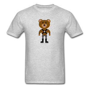 Muscle Bear T-Shirt . - heather gray