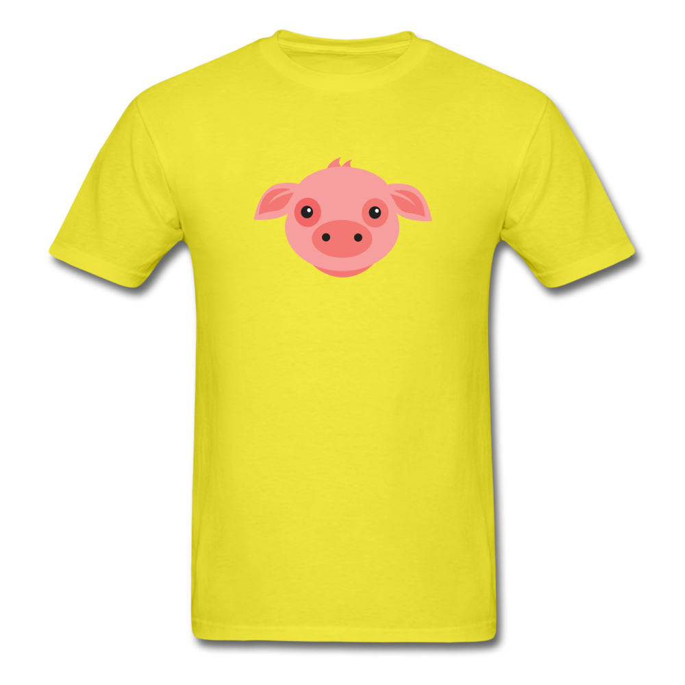 Cute Pig T-Shirt - yellow