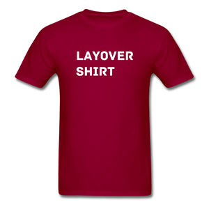 Layover Crew Life T-Shirt - dark red