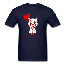 Load image into Gallery viewer, Kittywise (Pennywise IT inspired) Halloween T-Shirt Bright - navy