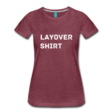 Load image into Gallery viewer, Layover Shirt Women's Cut - heather burgundy