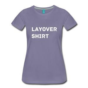 Layover Shirt Women's Cut - washed violet
