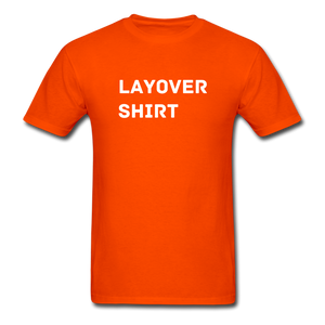 Layover Crew Life T-Shirt - orange