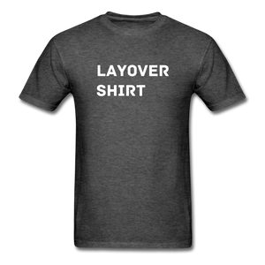 Layover Crew Life T-Shirt - heather black