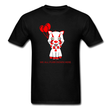Load image into Gallery viewer, Kittywise (Pennywise IT inspired) Halloween T-Shirt Bright - black