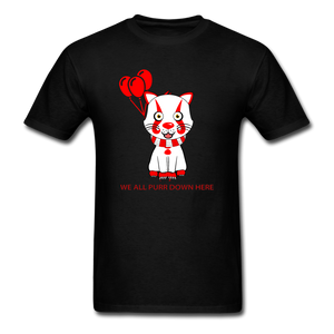 Kittywise (Pennywise IT inspired) Halloween T-Shirt Bright - black