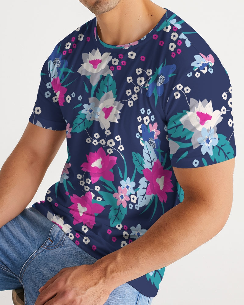 Pink Floral Pattern Men's Tee - BravoPapa Clothing