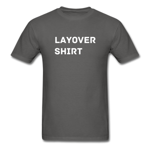 Layover Crew Life T-Shirt - charcoal
