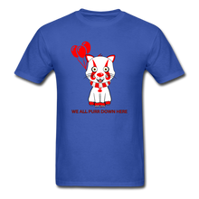 Load image into Gallery viewer, Kittywise (Pennywise IT inspired) Halloween T-Shirt Bright - royal blue