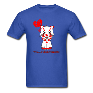 Kittywise (Pennywise IT inspired) Halloween T-Shirt Bright - royal blue
