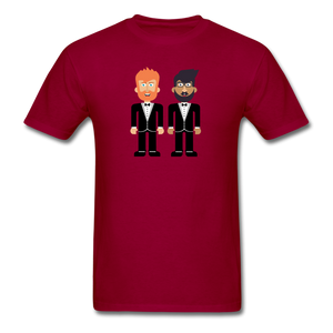 The Happy Couple T-Shirt - dark red