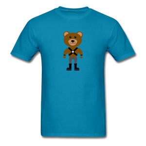 Muscle Bear T-Shirt . - turquoise