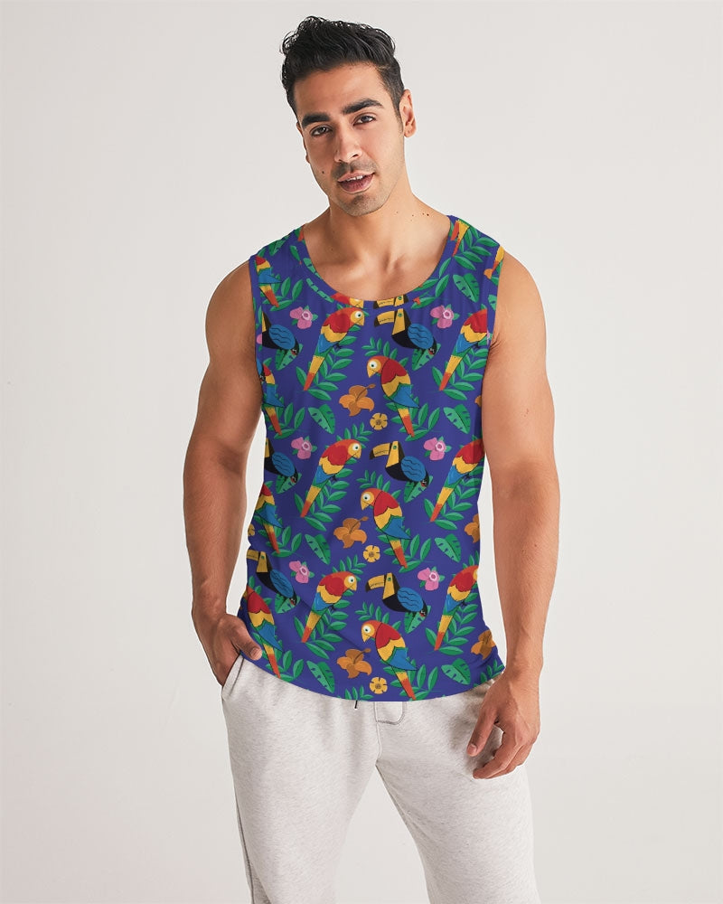 Blue Hawaiian Men's Sports Tank - BravoPapa Clothing