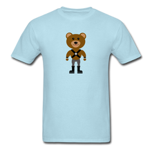 Load image into Gallery viewer, Muscle Bear T-Shirt . - powder blue