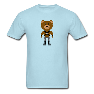 Muscle Bear T-Shirt . - powder blue