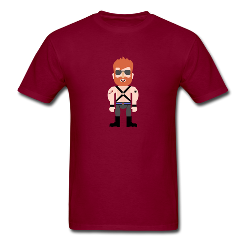 Ginger Daddy Pride T-Shirt - burgundy