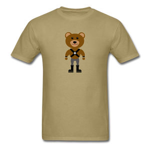 Muscle Bear T-Shirt . - khaki