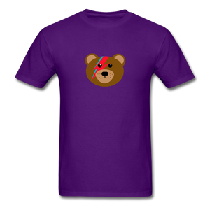 Bowie Bear T-Shirt - purple