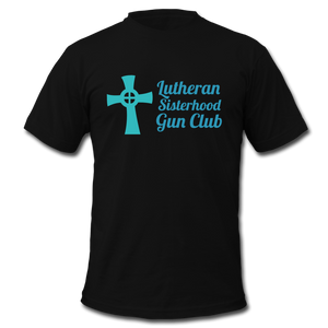 Lutheran Sisterhood Gun Club Men's  Jersey T-Shirt - BravoPapa Clothing