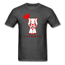 Load image into Gallery viewer, Kittywise (Pennywise IT inspired) Halloween T-Shirt Bright - heather black