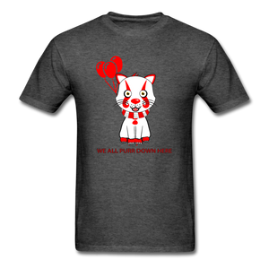 Kittywise (Pennywise IT inspired) Halloween T-Shirt Bright - heather black