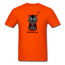 Load image into Gallery viewer, Meowcula vampire Cat Halloween T-Shirt - orange
