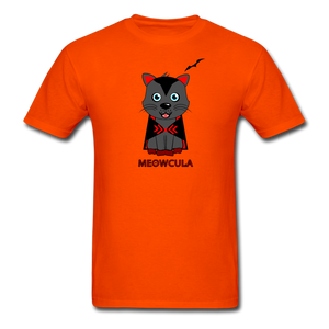 Meowcula vampire Cat Halloween T-Shirt - orange