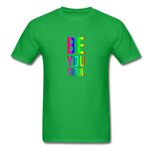 BE YOU TIFUL (Pride Colors) T-Shirt - bright green
