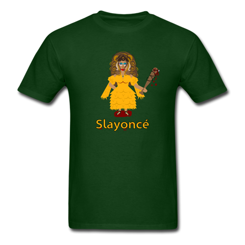 Slayoncé (Beyonce Parody)Halloween T-Shirt - forest green