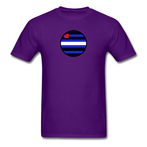 Leather Pride T-Shirt - purple