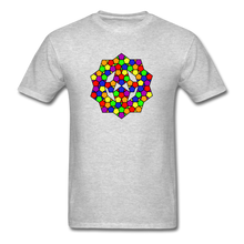Load image into Gallery viewer, Kaleidoscope Pride  T-Shirt - heather gray