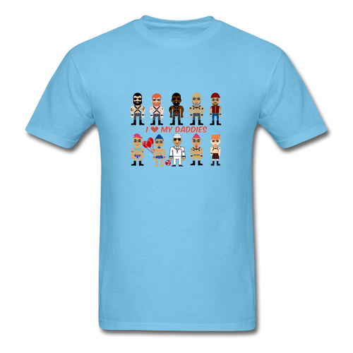 I Love My Daddies Men's T-Shirt - aquatic blue