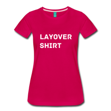Load image into Gallery viewer, Layover Shirt Women's Cut - dark pink