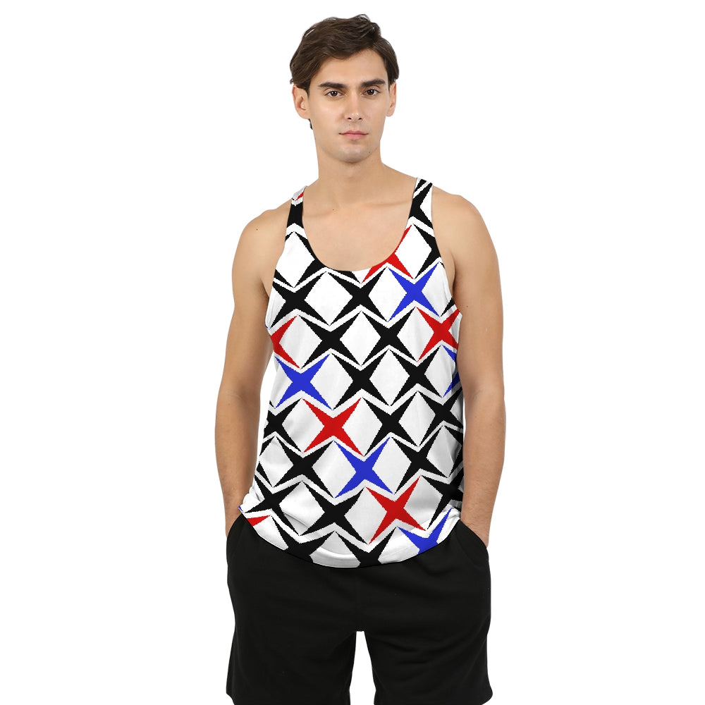 Michel Classic Blue Men's Tank - BravoPapa Clothing