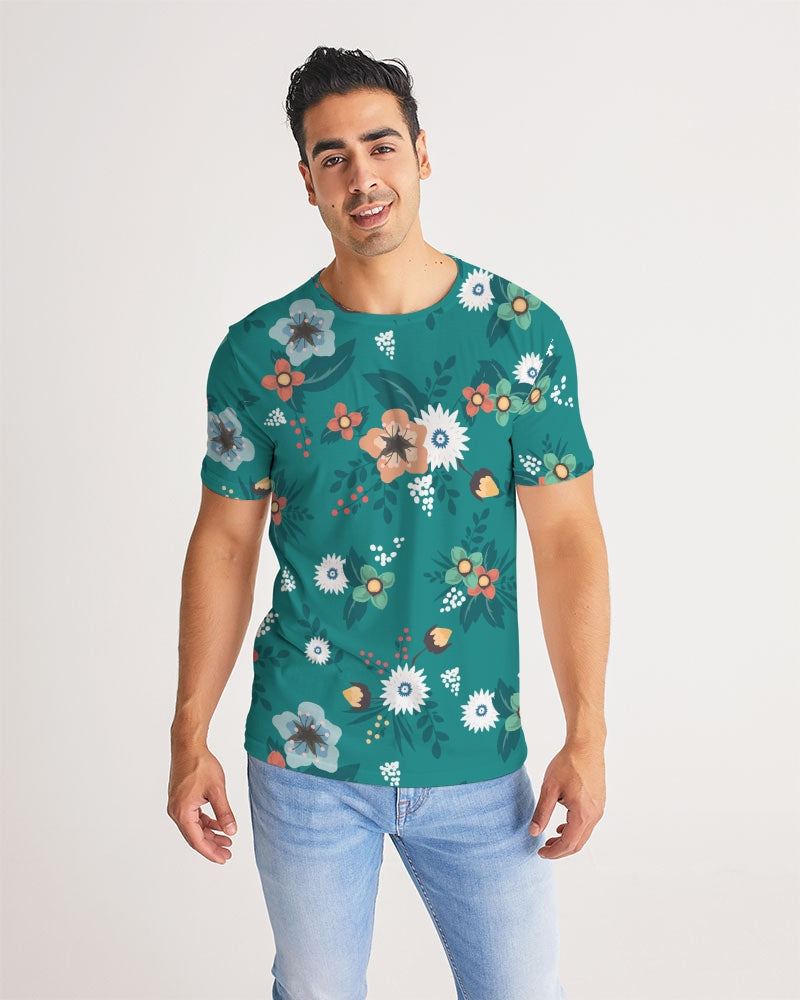 Green Floral Pattern Men's Tee - BravoPapa Clothing