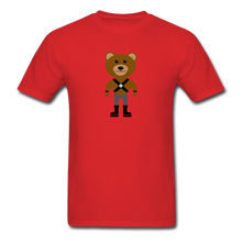 Load image into Gallery viewer, Muscle Bear T-Shirt . - red
