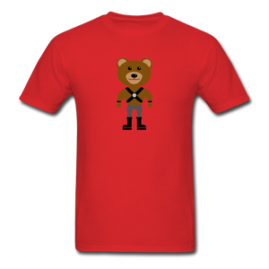 Muscle Bear T-Shirt . - red