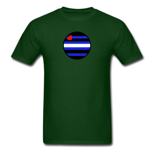 Leather Pride T-Shirt - forest green