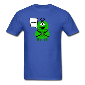 Flirty Alien T-Shirt - royal blue