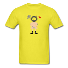 Load image into Gallery viewer, Astronaughty Men's T-Shirt - yellow