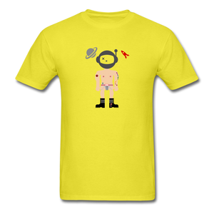 Astronaughty Men's T-Shirt - yellow