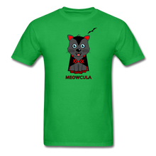 Load image into Gallery viewer, Meowcula vampire Cat Halloween T-Shirt - bright green