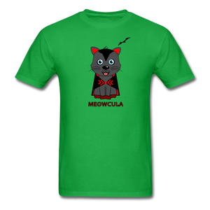Meowcula vampire Cat Halloween T-Shirt - bright green