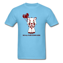 Load image into Gallery viewer, Kittywise (IT Inspired) Halloween T-Shirt - aquatic blue