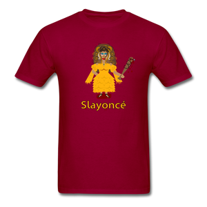 Slayoncé (Beyonce Parody)Halloween T-Shirt - dark red
