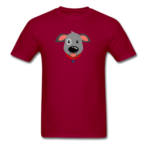 Puppy Power Pride T-Shirt - dark red