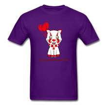 Load image into Gallery viewer, Kittywise (Pennywise IT inspired) Halloween T-Shirt Bright - purple